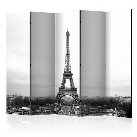 Parawan 5częściowy  Paryż czarnobiała fotografia II [Room Dividers]