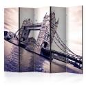 Parawan 5-częściowy - Tower Bridge II [Room Dividers]