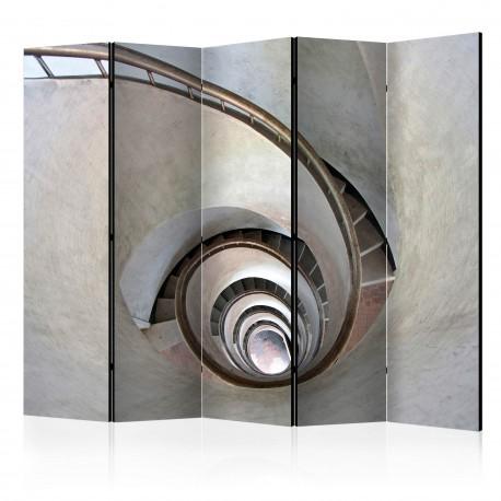 Parawan 5częściowy  White spiral stairs II [Room Dividers]