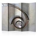 Parawan 5-częściowy - White spiral stairs II [Room Dividers]