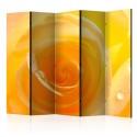 Parawan 5-częściowy - Żółta róża II [Room Dividers]