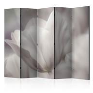 Parawan 5częściowy  Tulip  black and white photo II [Room Dividers]