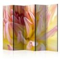 Parawan 5-częściowy - Pastelowa dalia z kroplami rosy II [Room Dividers]