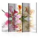 Parawan 5-częściowy - Kwiaty tropikalne - drzewo storczykowe (bauhinia) II [Room Dividers]