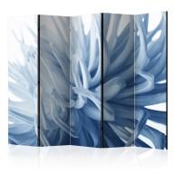 Parawan 5częściowy  Kwiat  niebieska dalia II [Room Dividers]