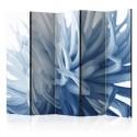 Parawan 5-częściowy - Kwiat - niebieska dalia II [Room Dividers]