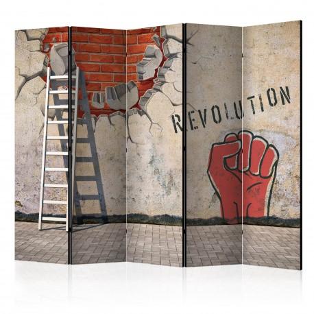 Parawan 5częściowy  Niewidzialna ręka rewolucji II [Room Dividers]
