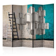 Parawan 5częściowy  Betonowe bloki II [Room Dividers]