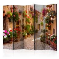 Parawan 5częściowy  Uliczka w Spello (Włochy) II [Room Dividers]