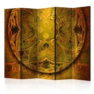 Parawan 5częściowy  Mandala Złoty poemat II [Room Dividers]