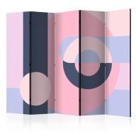 Parawan 5częściowy  Geometryczny wianuszek (fioletowy) II [Room Dividers]