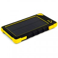 POWERNEED, S8000Y, Power Bank 8000mAh (29,6Wh) z panelem solarnym 1W, wyjście: USB 5V, 1A - 5V, 2A