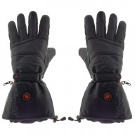 GLOVII, GS5, Ogrzewane skórzane rękawice narciarskie, rozmiar: L, XL