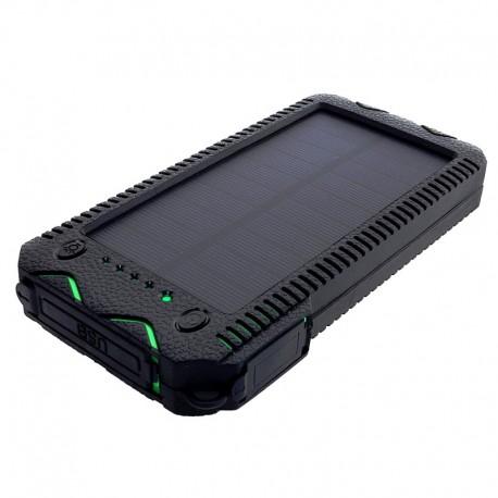 POWERNEED, S12000G, Power Bank 12000mAh (44,4Wh) z panelem solarnym 1W, wyjście: USB 2x 5V, 2A