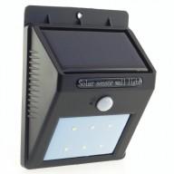 POWERNEED, SL09P, Kinkiet solarny z czujnikiem ruchu, panel o mocy 0.44W