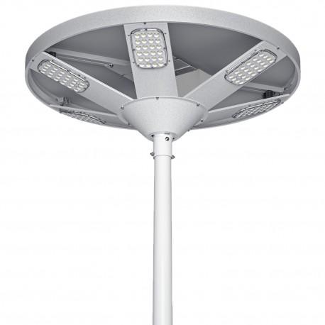 Solarna lampa uliczna HALO 6000lm sterowana Bluetooth, LED x144, panel solarny 60.9W, czujnik zmierzchowy, odstraszacz ptaków