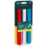 Filament 3Doodler Start, Eko, 2.5mm, 75 sztuk, 3 kolory, Cherry Red/Simply White/Ocean Blue