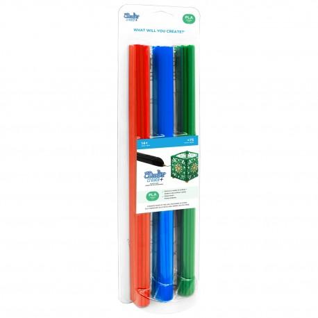 Filament 3Doodler Create i PRO, PLA, 3mm, 75 sztuk, 3 kolory, Mix2